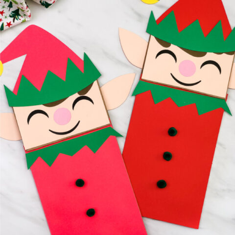Elf Paper Bag Craft For Kids