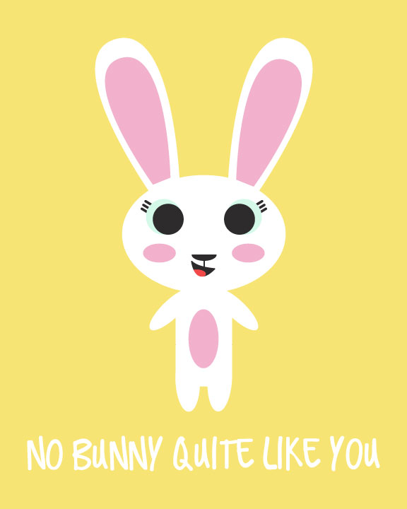 Free Easter Bunny Coloring Page