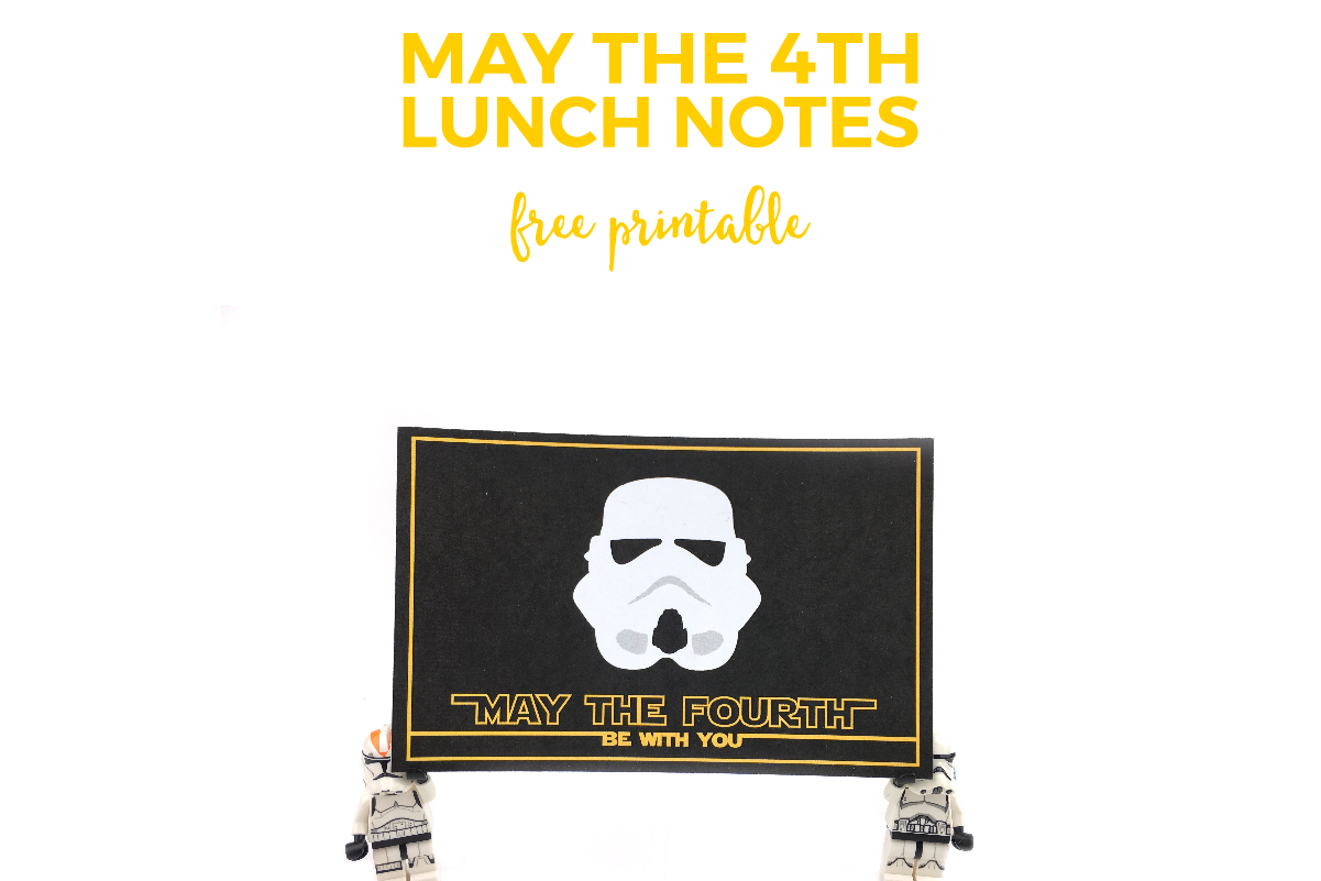 may the fourth be with you printable lunch notes