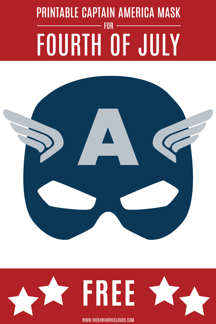 Fourth of July printable Captain America mask