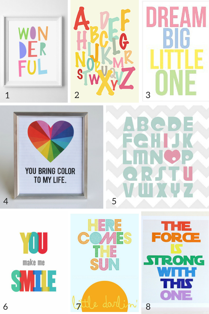 photograph relating to Free Printable Nursery Art known as 100 No cost Nursery Printables Thatll Visual appearance Optimistic Within Just about every