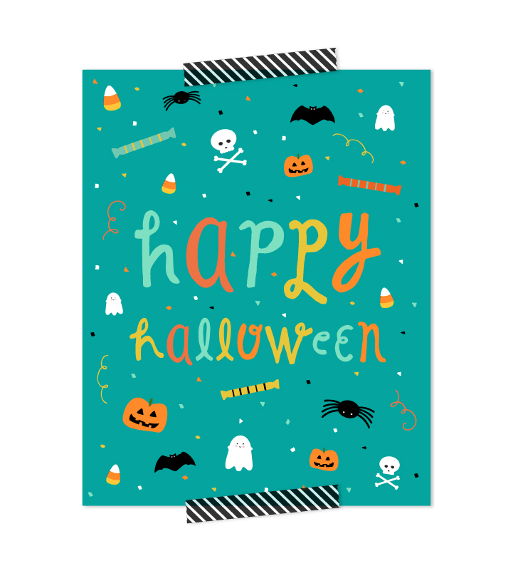 Happy Halloween Kid Friendly FREE Printable | Click through to download your last minute Halloween decoration that is fun and cute, without being scary for kids!