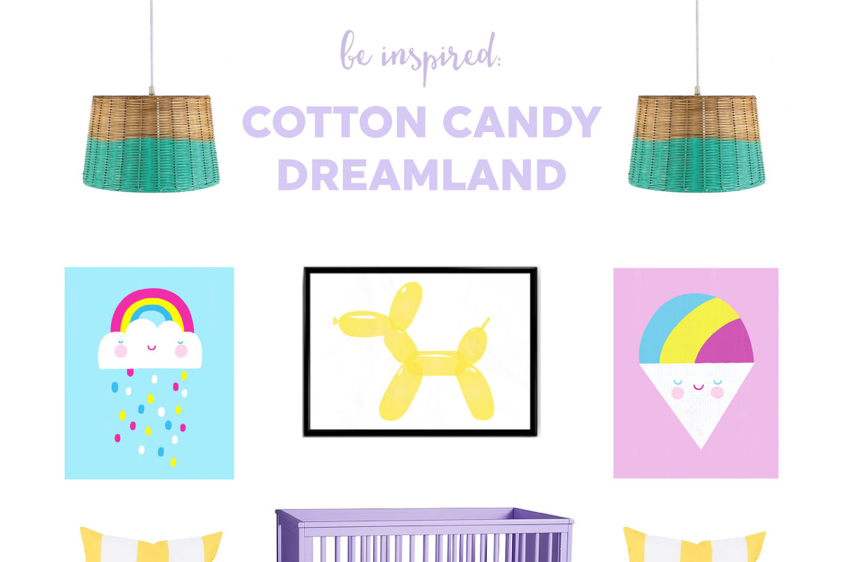 Cotton Candy Dreamland Nursery | This bright pastel nursery is perfect for brightening your little one's day.