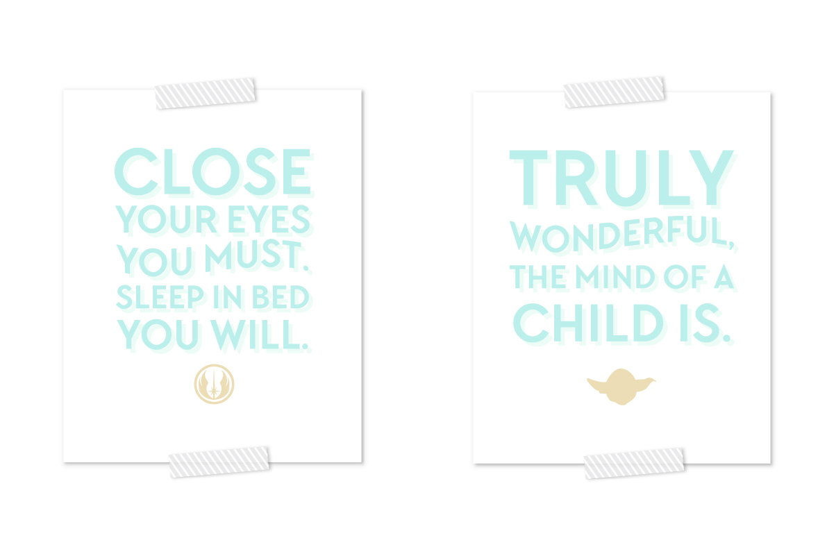 FREE Star Wars Art Printables | Click through to download your free copy of this calming and modern Star Wars printable.