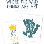 free printable where the wild things are art