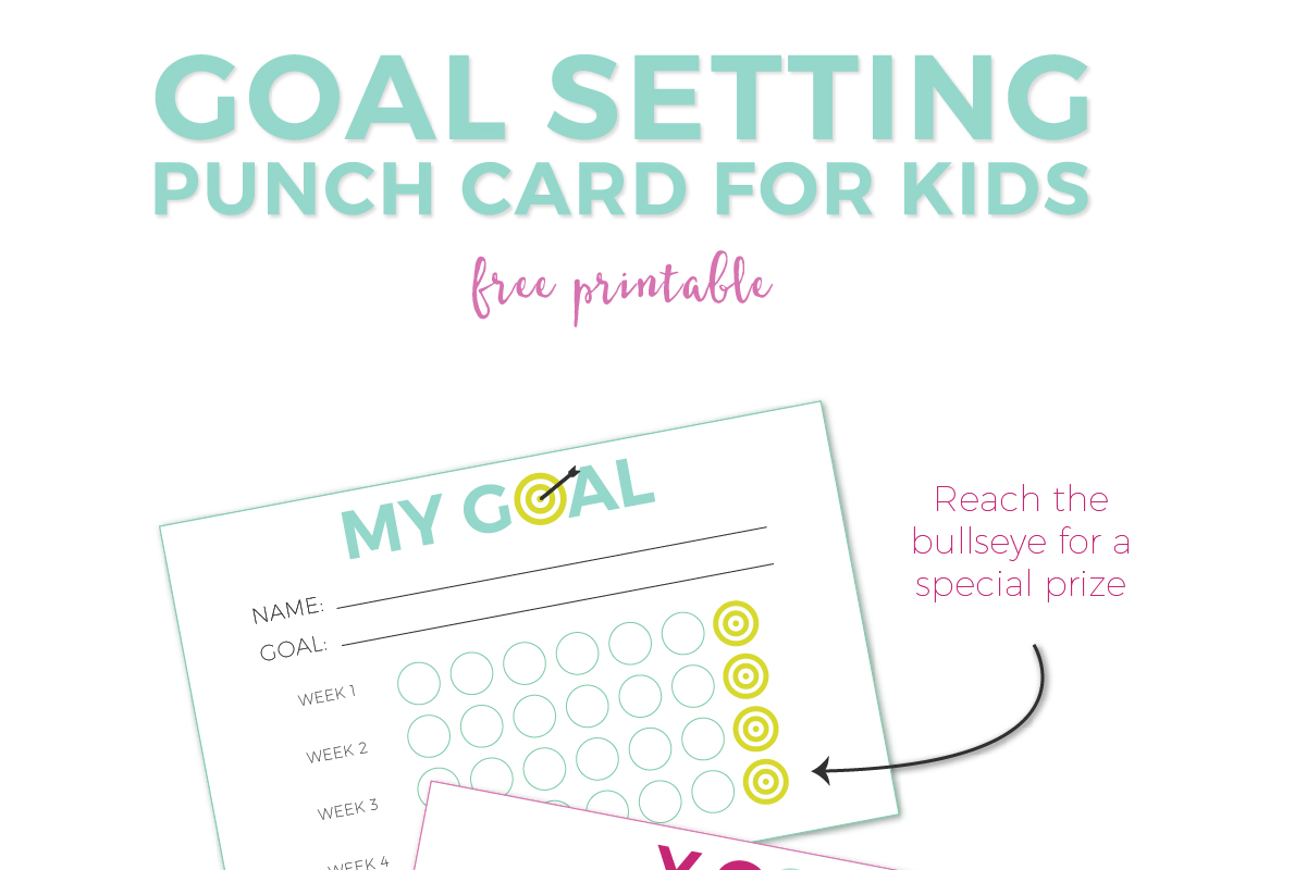 image regarding Goals Printable named Purpose Natural environment For Little ones + No cost Printable Punch Playing cards