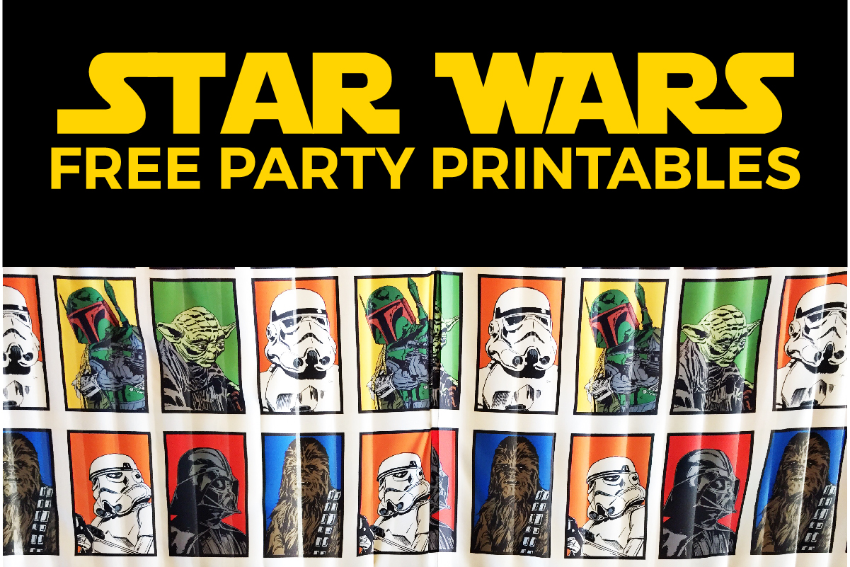 graphic about Printable Star Wars Images named No cost Star Wars Get together Printables: A No-Aggravation Direction in the direction of a
