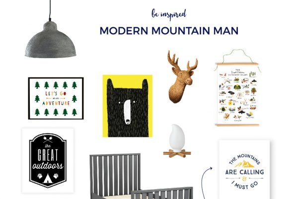 Boys Mountain Bedroom Theme | Are you looking to design your little man's room from pastel and baby-like to grown up and fun? Then click through for all the details and for your FREE mountains wall art.