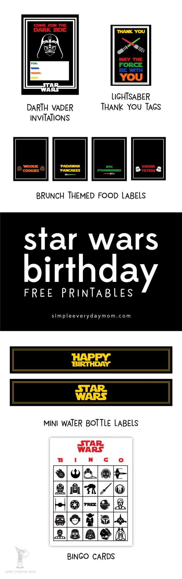 graphic about Star Wars Invitations Free Printable named Totally free Star Wars Occasion Printables: A No-Frustration Direction in direction of a