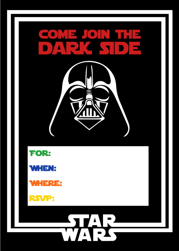 photograph relating to Star Wars Birthday Invitations Printable known as Totally free Star Wars Bash Printables: A No-Irritation Direction towards a