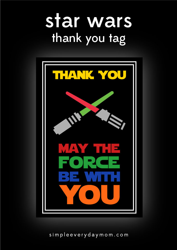 Star Wars Party Printables A NoStress Way to a Galactic Party