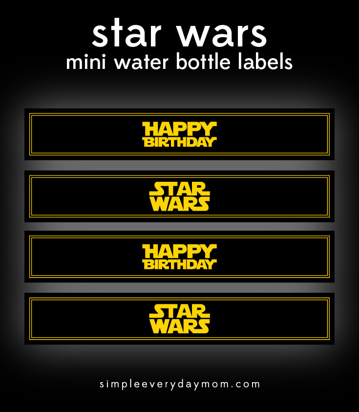 Download These Star Wars Printables To Throw A Festive Birthday Party In No Time