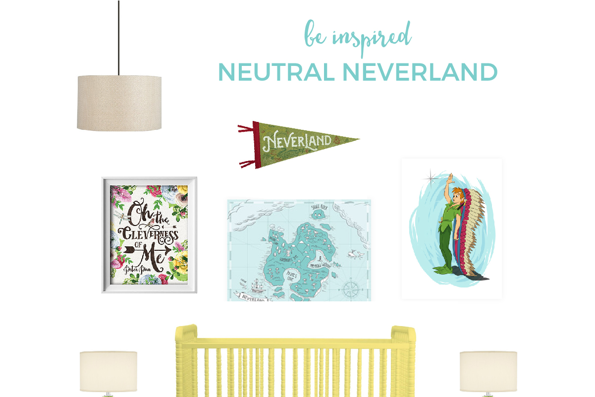 Peter Pan Nursery | This gender neutral Peter Pan themed nursery is bright, cheery with just a touch of nautical elements. Click through to discover all the sources.