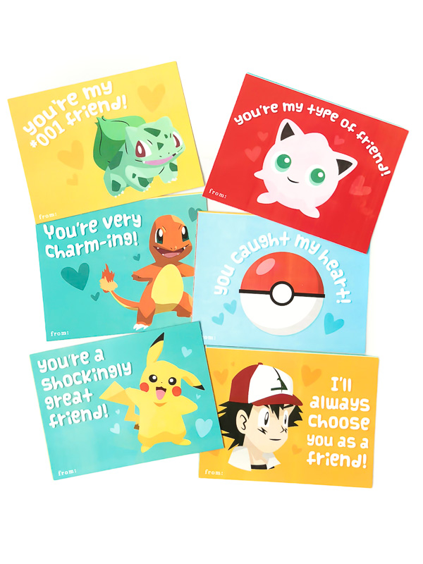 Free Printable Pokemon Valentine's Cards | Printables for kids
