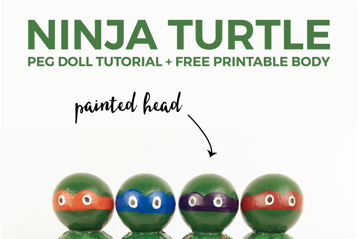 Have you always wanted to make a peg doll for you kiddo, but you thought it would be too hard? Then this tutorial is for you! All you have to do is paint the head because the body is a FREE printable. Click through for all the details.