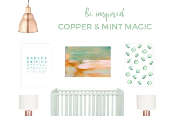 Copper And Mint Nursery | A lovely and sophisticated nursery that is modern and plays on one of the hottest metals of the moment, copper. Click through for all the details.