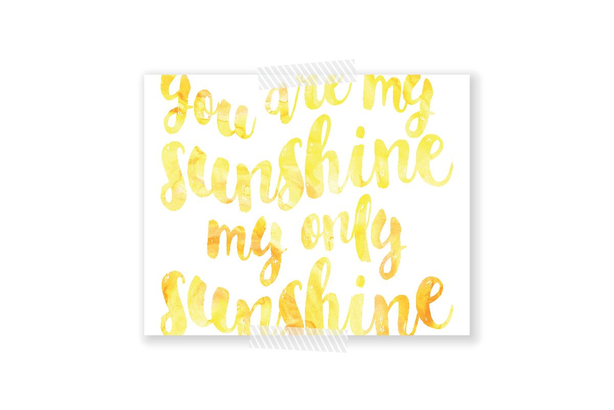 graphic about You Are My Sunshine Free Printable identified as This Yourself Are My Sunlight Printable Will Go away Your Nursery
