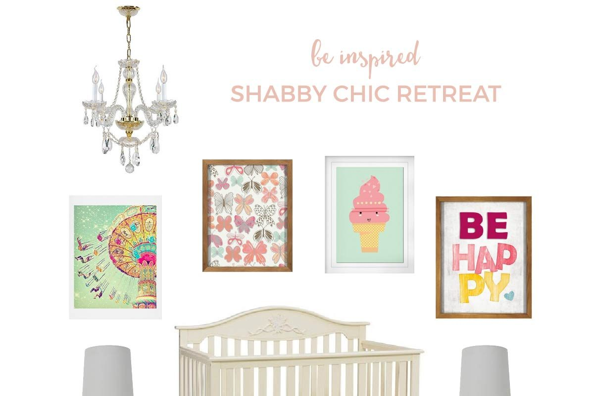 All Target Shabby Chic Baby Nursery | Love the shabby chic look but not sure how to put it all together? Come take a peek at this vintage styled, shabby chic nursery with ALL of the items found at Target!