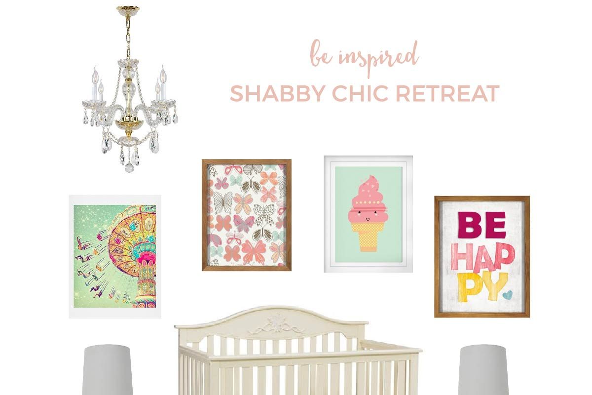 All Target Shabby Chic Baby Nursery   Love the shabby chic look but not sure how to put it all together? Come take a peek at this vintage styled, shabby chic nursery with ALL of the items found at Target!