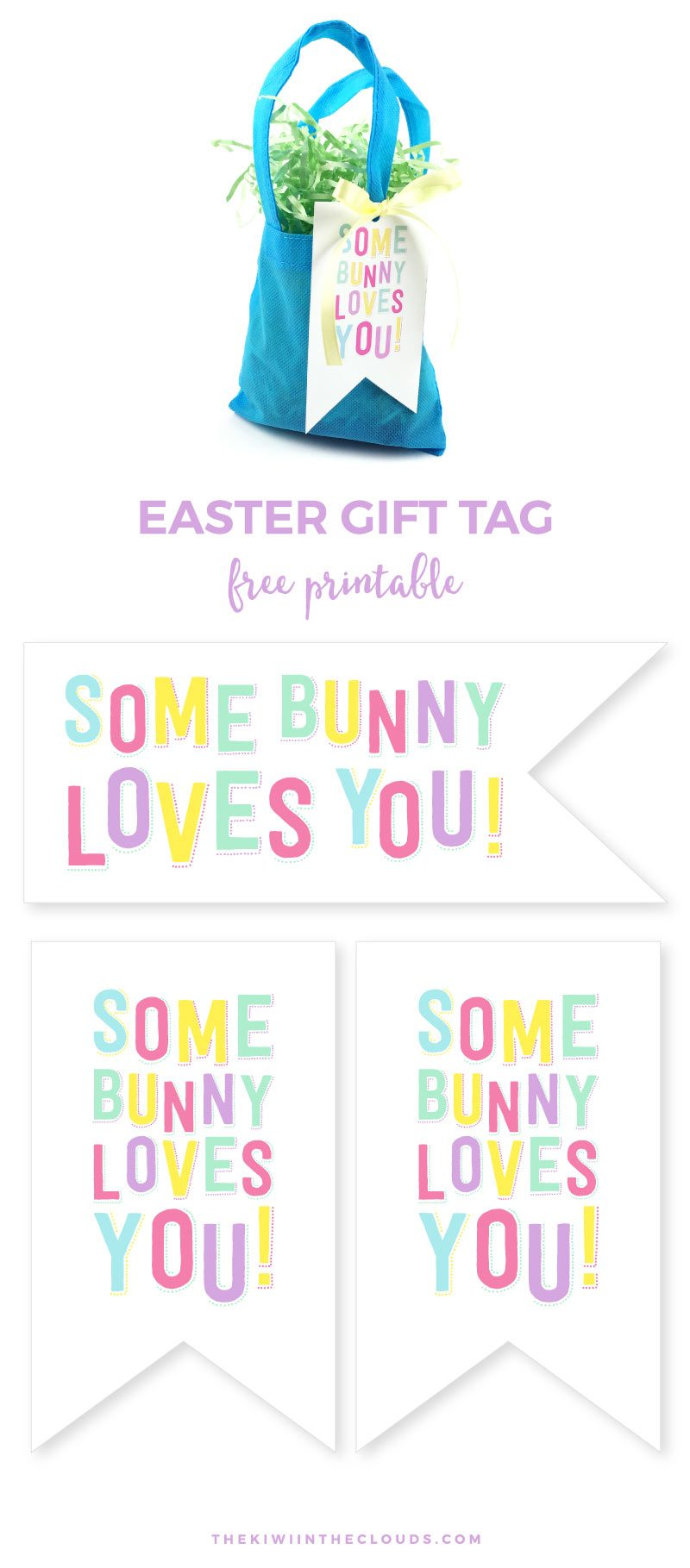 Simple everyday mom somebunny loves you free printable easter tag come grab this cute easter gift tag and negle Choice Image