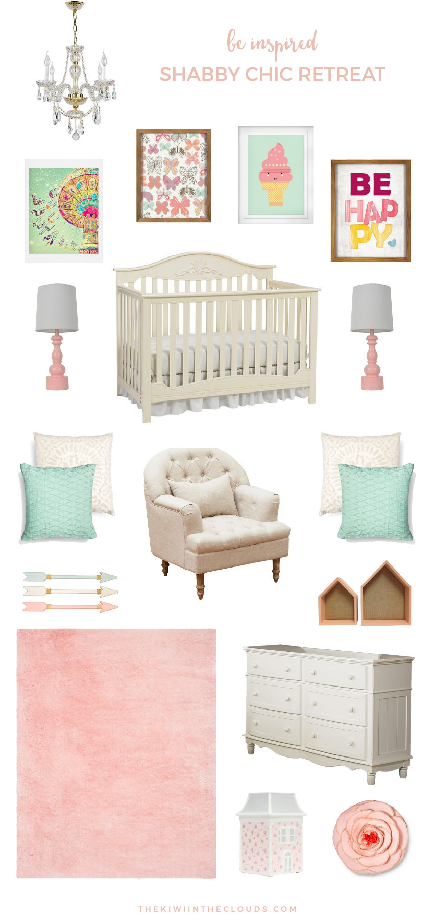 shabby chic nursery from target. Black Bedroom Furniture Sets. Home Design Ideas