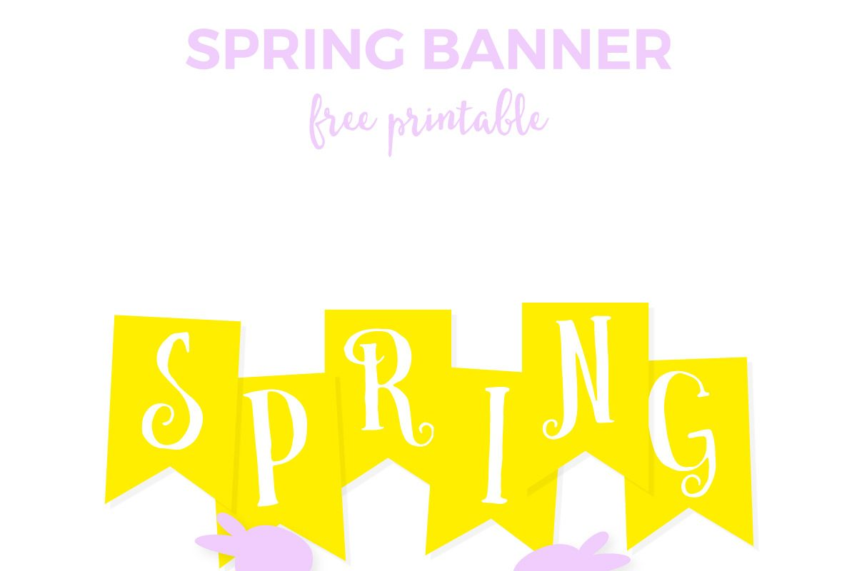 Free Spring Printable Banner