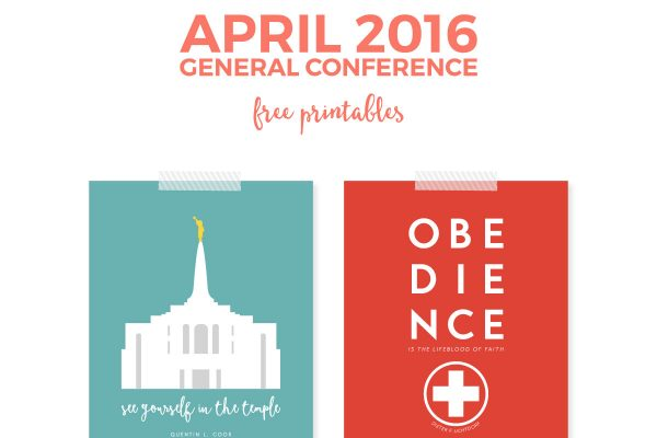 "Looking for a way to add a modern twist on LDS quotes? Then these free 8""x10"" printables from April 2016 General Conference are exactly what you need. Print them out and have them hanging in your home in no time flat!"