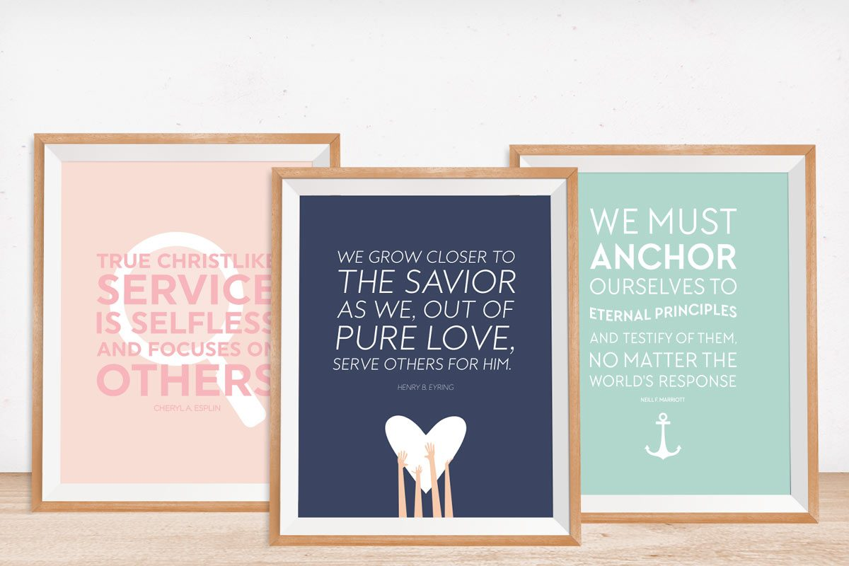 Celebrate the inspiring words spoken at the LDS womens conference with these 4 free printables!