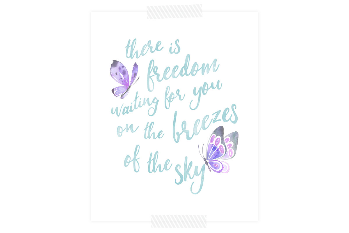 Go to sleep, wake up and spend your day reminding yourself of the endless possibilities in front of you when you download this free printable quote by Erin Hanson.