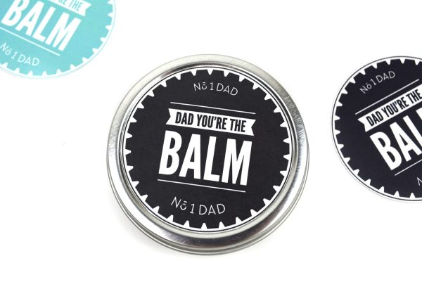 Easy Fathers Day Gift Idea | Give your dad the gift of grooming this Fathers Day with this punny beard balm gift idea and printable. Click through to download yours today (in 2 colors).