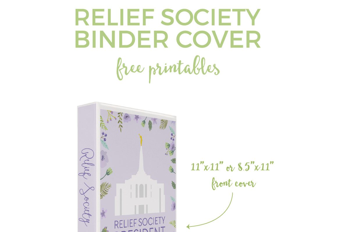 Spruce up those old binders with these Relief Society binder cover free printables. They'll instantly add a modern and feminine touch. Click through to download your instantly!