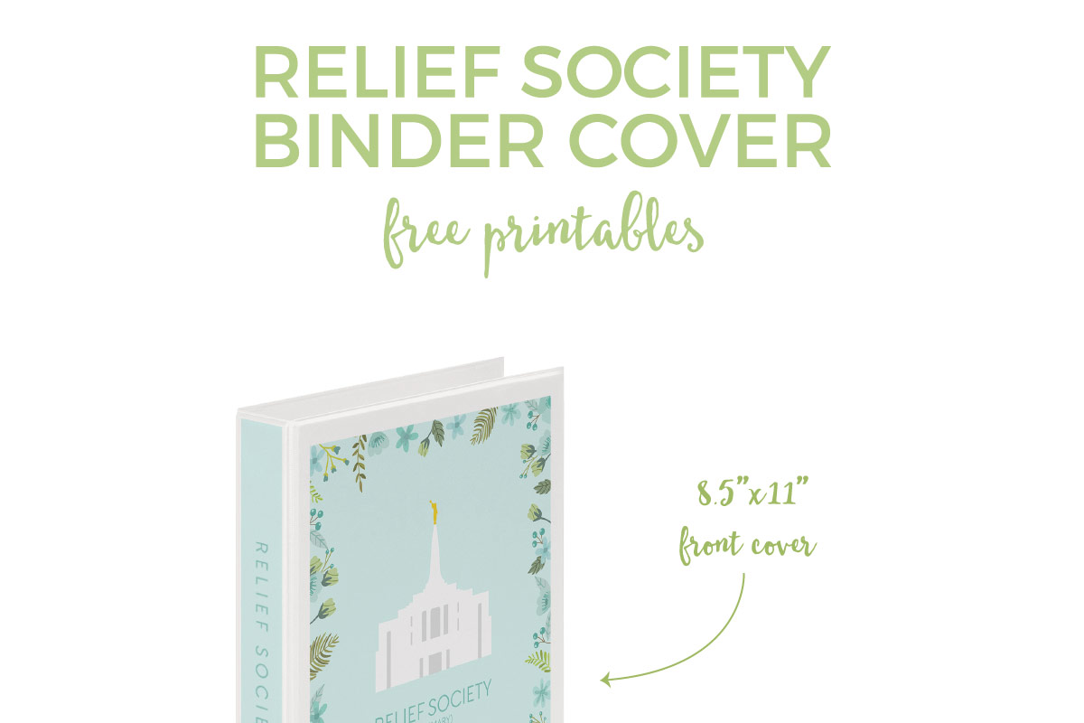 Download these Relief Society free printable binder covers to decorate the binders that you pass around for attendance.