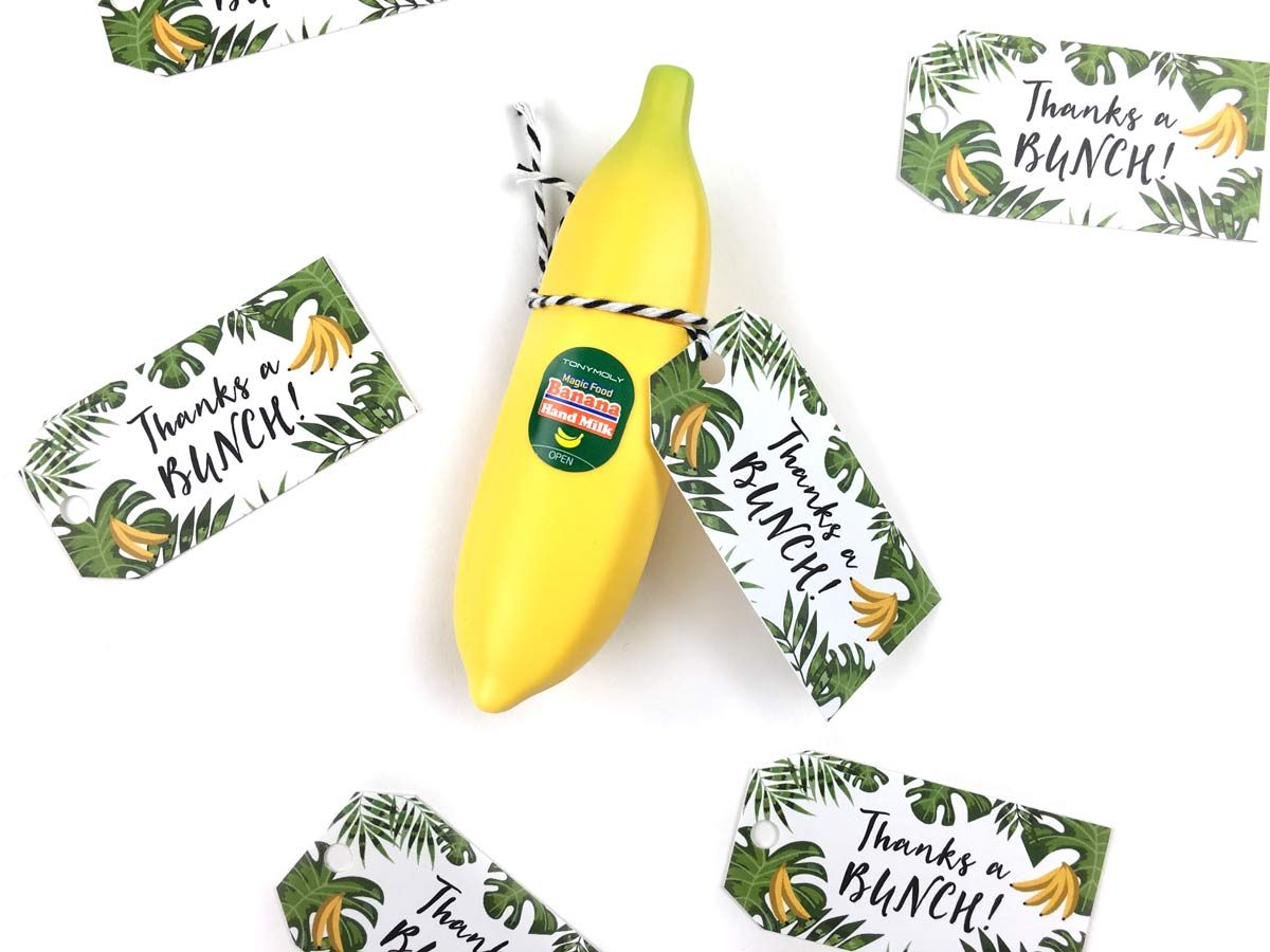 Small Thank You Gift Idea Tony Moly Banana Hand Milk Free Printable