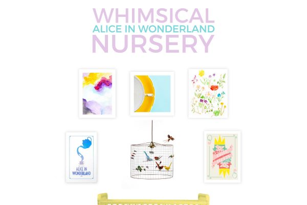 Create a baby girl's room filled with whimsy and quirkiness with this Alice in Wonderland nursery. It's modern, playful and perfect for the off beat Disney baby!