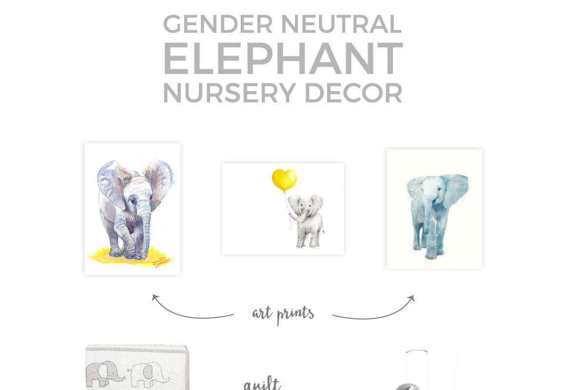 If you're planning a neutral elephant themed nursery for baby, then you'll want to check out this collection of the cutest elephant nursery decor items.