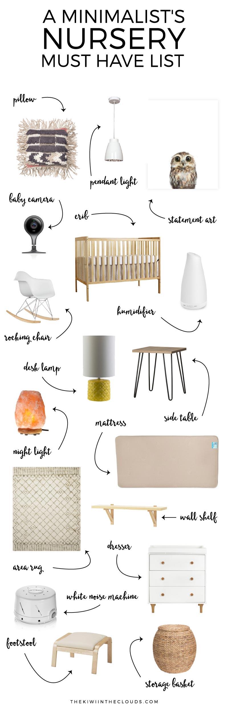 Nursery essentials a minimalist nursery for Minimalist essentials