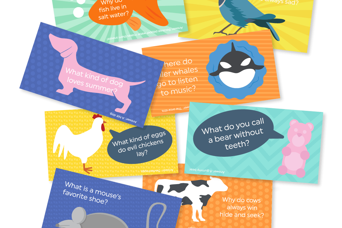 Give your kids a lunch box surprise with these free printable funny kids jokes. They're colorful and fun! Click through to download them instantly.