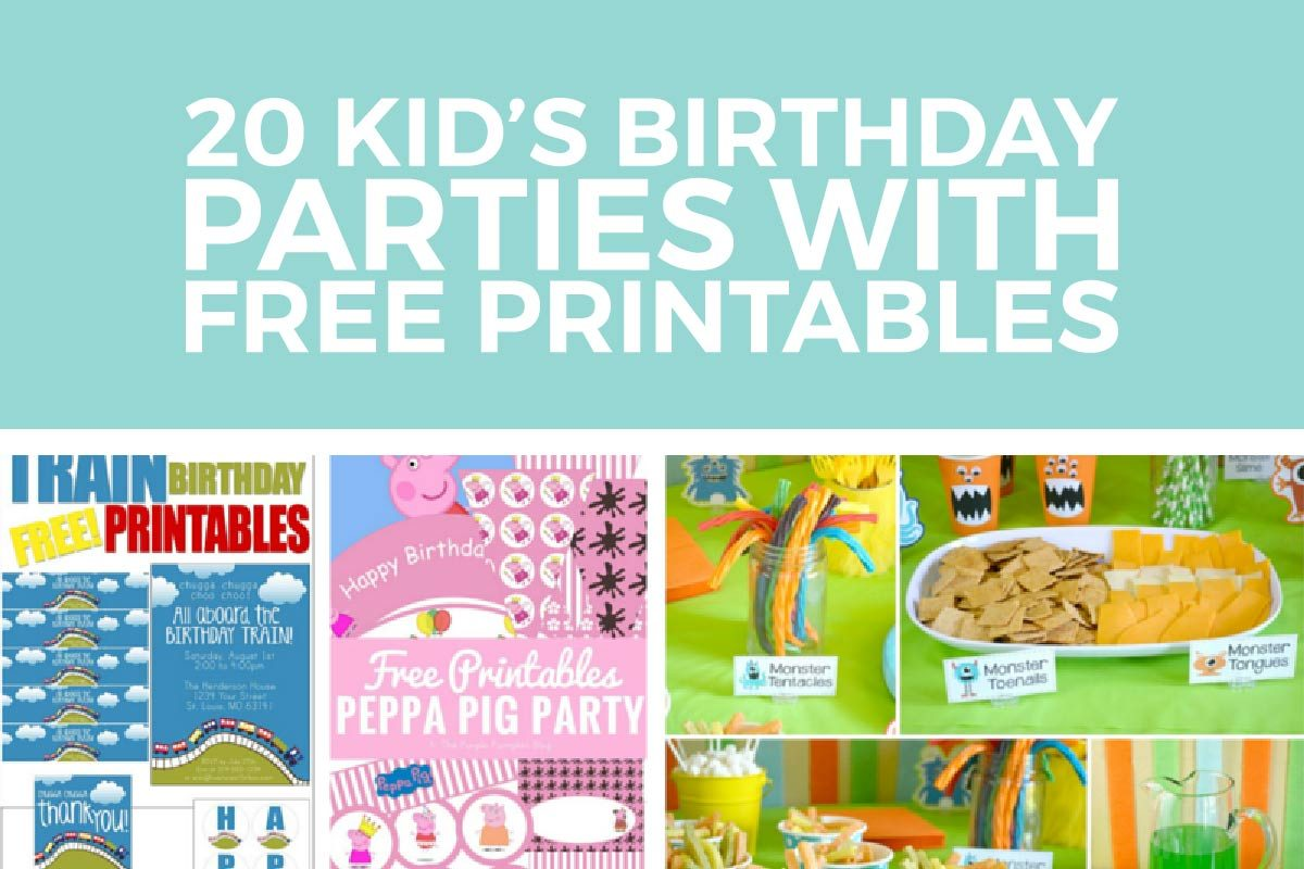 Kids Birthday Party Ideas With FREE Printables