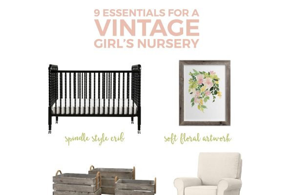 Turn your baby girl's room into a cozy and beautiful vintage nursery with these 9 simple swaps.