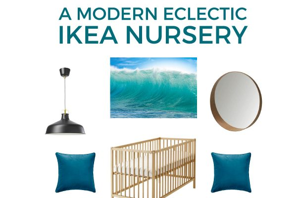 Create a chic, modern and eclectic nursery that any baby would love with items ALL from Ikea! This nursery is calming and filled with wonderful natural accents.