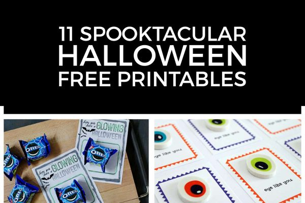 Treat your family to these fun and kid friendly Halloween printables. There's Halloween bingo cards, festive wall art, cute Halloween neighbor gift ideas, treat printables and more!