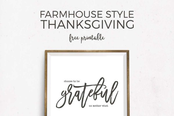 Celebrate the Thanksgiving spirit of gratitude with this free printable Thanksgiving art. It's ideal for farmhouse style art and it reminds you to be continually grateful!