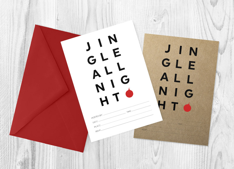 free printable christmas invitations to rock your holiday party