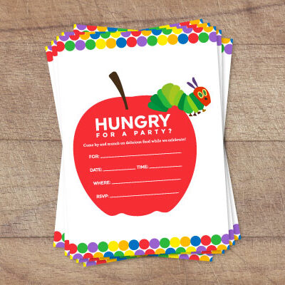 Free The Very Hungry Caterpillar Invitation