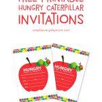 free the very hungry caterpillar invitations