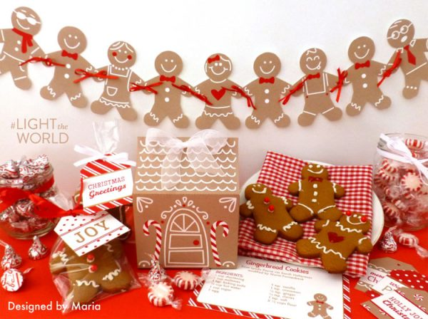 Gingerbread House Printable | Christmas Printables | #lighttheworld