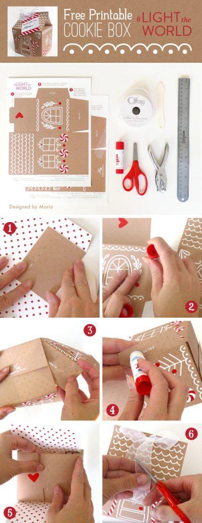 Gingerbread House Printable | Christmas Printables | #lighttheworld