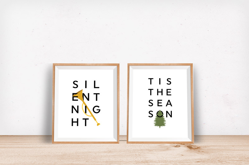 Join the free printable lovin' tribe and get these 2 free Christmas prints to decorate your holiday home in a flash!