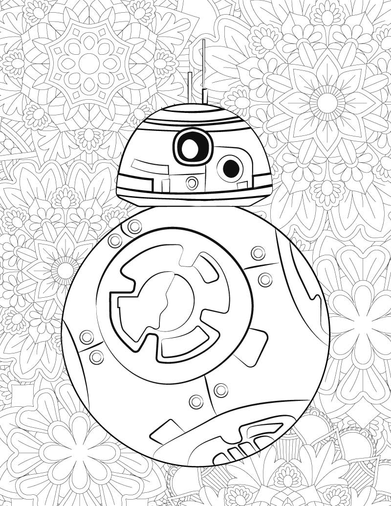 Slobbery image regarding star wars coloring pages printable