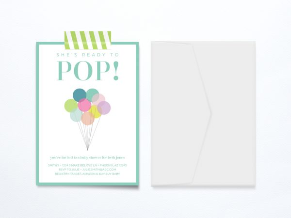 Ready To Pop Baby Shower Printable | Free Printables | Baby Shower Ideas | Baby Gear